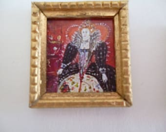 One 48th Scale print .Queen Elizabeth 1st Tudor style !