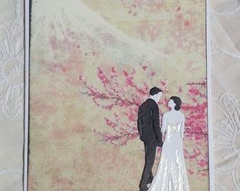 Japan Bride & Groom Wedding Anniversary Handmade Card