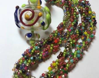 Rainbow Graffiti necklace