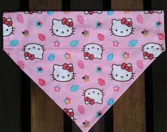 Hello Kitty Bandana | Pet Bandana | Slip-on Pet Bandana