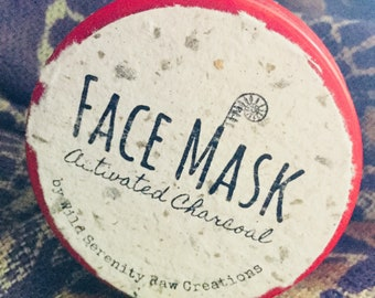 Activated charcoal face mask, detoxifying face mask, acne face mask