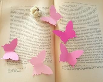 Butterfly Die cuts,Pink Butterfly die cuts,Pink Butterfly Cutouts,Wedding Decor,Paper butterfly,butterfly cutouts,Butterfly decorations