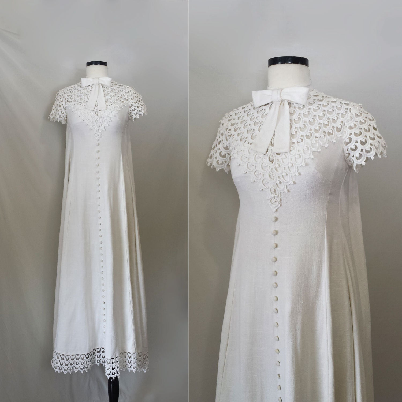 1960er Jahre Brautkleid / Vintage 60er Jahre Hochzeit Kleid /