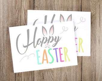 FREE Shipping! Hoppy Easter Bunny Printable or professionally printed. 5x7/8x10. bunny, bunny face, ears, pastels, celebration print