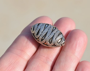 1 Sterling Silver Large Oval Bead BD622