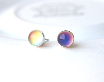 Mood Earrings in Sterling Silver Small Color Changing Earring Surgical Steel Available