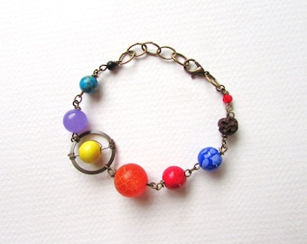 Planets Bracelet Solar System the Nine Planets