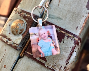 Silver Hook Bookmark with Custom Photo - Keepsake Ribbon Bookmark with Custom Image Photo