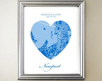 Newport Heart Map