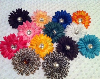 Jeweled Daisy Flower Clip
