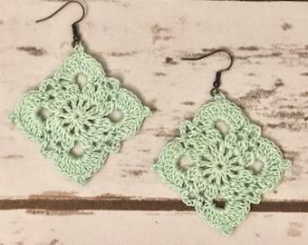 Crochet Diamond Earrings