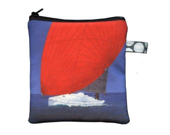 J/Boat J/88 Sailboat Painting Zippered Pouch by SBMathieu