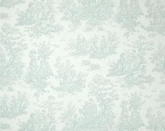 Scalloped Valance 52 x 16 50 x 16 window valances Jamestown toile snowy blue white toile valance Kitchen Valance lined valance