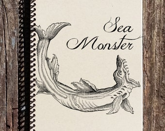 Sea Monster Notebook - Sea Monster Journal - Sea Monster - Monster Journal - Sea Creatures
