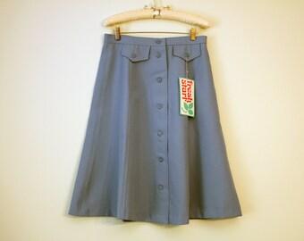 Vintage Skirt Button Down Blue Cute Fresh Start