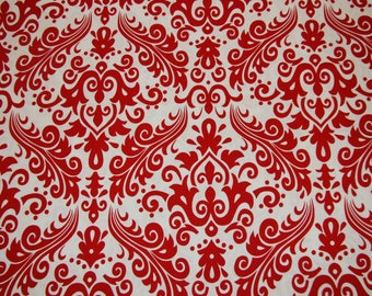 Red Scroll Cotton Fabric low price cotton free shipping available Cotton fabric by the yard - SHIPS FAST Fat Quarters available