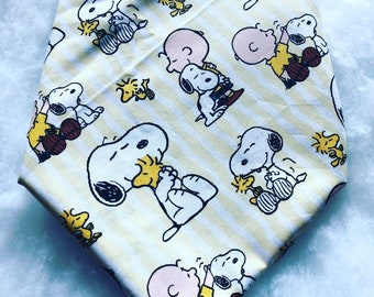 Snoopy, Charlie Brown and Woodstock Bandana