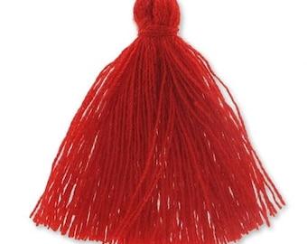 30mm red cotton tassel