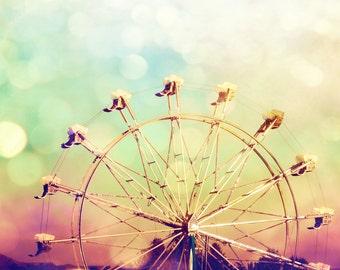 Ferris Wheel Photography Fine Art Print, Carnival Ride Vintage Home Decor, Fair Wall Art - Dream Ride Print