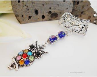 Bijou de foulard, Chouette,  attache foulard, bijou pour écharpe, bijou attache foulard bleu, attache pour foulards , pour femme, romantique
