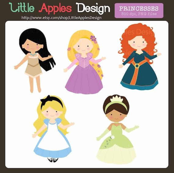 princess clip art princess clipart cute princesses rh etsy com clip art princess leia and hans solo clipart princess sheets