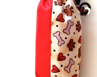 Doggie bag pouch,  dog leash pouch, doggie bags, doggy bag holder,