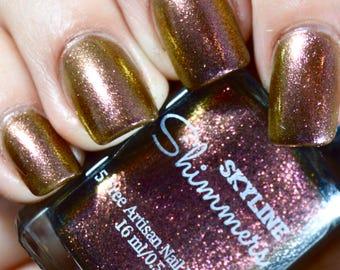 Duochrome Nail Polish, Purple Nail Polish, Gold Nail Polish, Indie Nail Polish, Indie Polish, Artisan Nail Polish, Lacquer, ~EQUINOX~