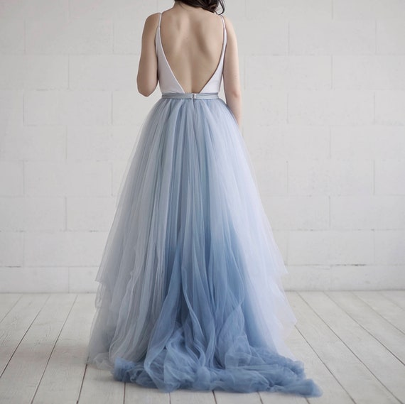 Nora - ombre bridal skirt
