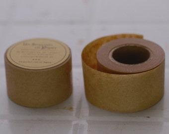 Wide Kraft Plain Japanese Pattern Water Glue Paper Tape - Classiky