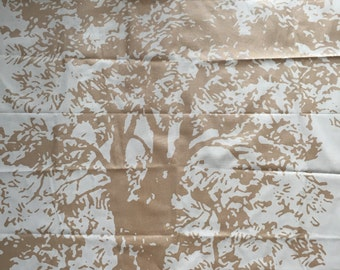 Tablecloth white with gold tree,Scandinavian design