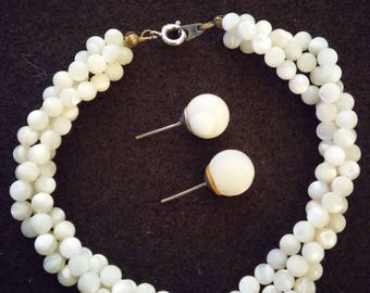 Natural Mother of Pearl Bracelet & Earring Set