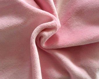 50 cm * 50 cm of fabric pink light soft jersey