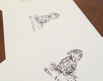 Custom Pet Stationery Set of 12 Note Cards