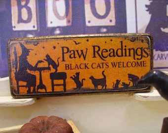 Paw Readings Miniature Wooden Plaque 1:12 scale