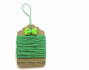 Bright Green Bakers Twine, Solid  Bakers Twine, 10yds, Fall Colors, Solid Bakers Twine , Christmas Bakers Twine, GreenTwine