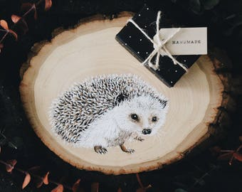 Woodcut Hedgehog Portrait
