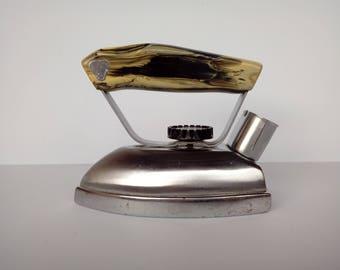 Working Vintage Iron With Bakelite Handle / Soviet Compact Metal Iron / Travel Iron / Electrical Tourist Iron / Retro Slim Traveling Iron