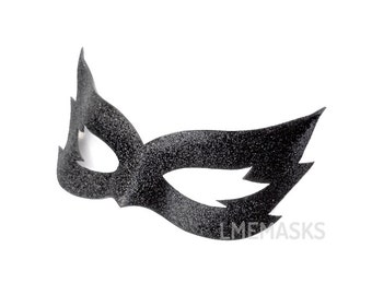 Little Wolf Leather Mask Glitter Black Fox Halloween Party Animal Eyemask Bridal Costume Masquerade Mardi Gras Masked Ball Black Mask Noir