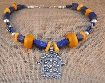 Vintage Khamsa Necklace