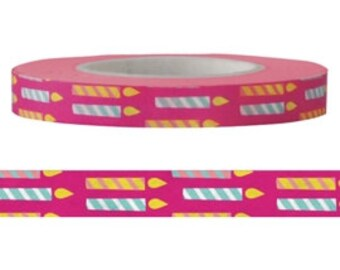 Candle Washi Tape (6mm X 15M)