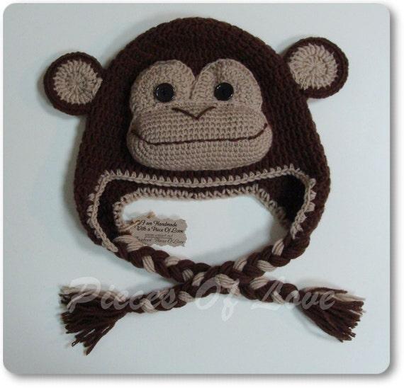 Affe Hut häkeln Monkey Hut häkeln Hut Tier Hut lustigen Hut