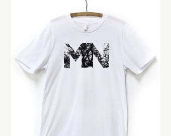 MN Branches Tshirt/ White Shirt / Minnesota Clothing / Twin Cities / Tree Branches / Graphic Tees / Abstract Art / Art Wear