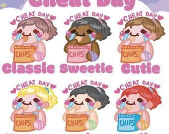 Cheat Day Sammie    Planner Stickers, Cute Stickers for Erin Condren (ECLP), Filofax, Kikki K, Etc.    AS05