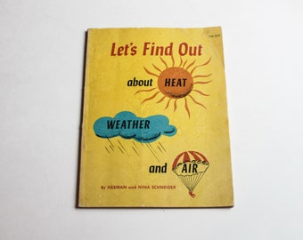 1974 Science Heat, Weather and Air Book - Scholastic Book Services - Vintage Science Text America USA