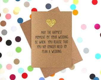 Funny Wedding Card, Wedding Card, Funny Wedding Cards, Funny Engagement Card, Funny marriage card: Happiest Moment of your Wedding