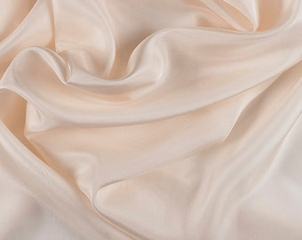 "45"" Wide 100% Silk Crepe de Chine Cream By the Yard (1200M107)"