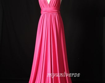 Rose Pink Infinity Dress Wrap Convertible Dress Bridesmaid Dress Formal Wedding
