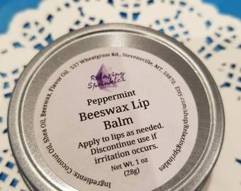 Beeswax Lip Balm- Peppermint- 1 oz tin