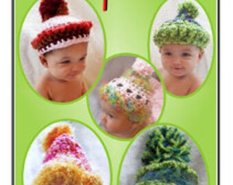 "Crochet baby hats ""Super Simple Topsies"" Annie Potter Presents"