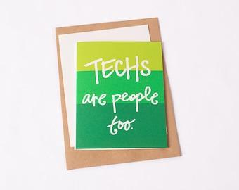 Greeting Card: Tech People